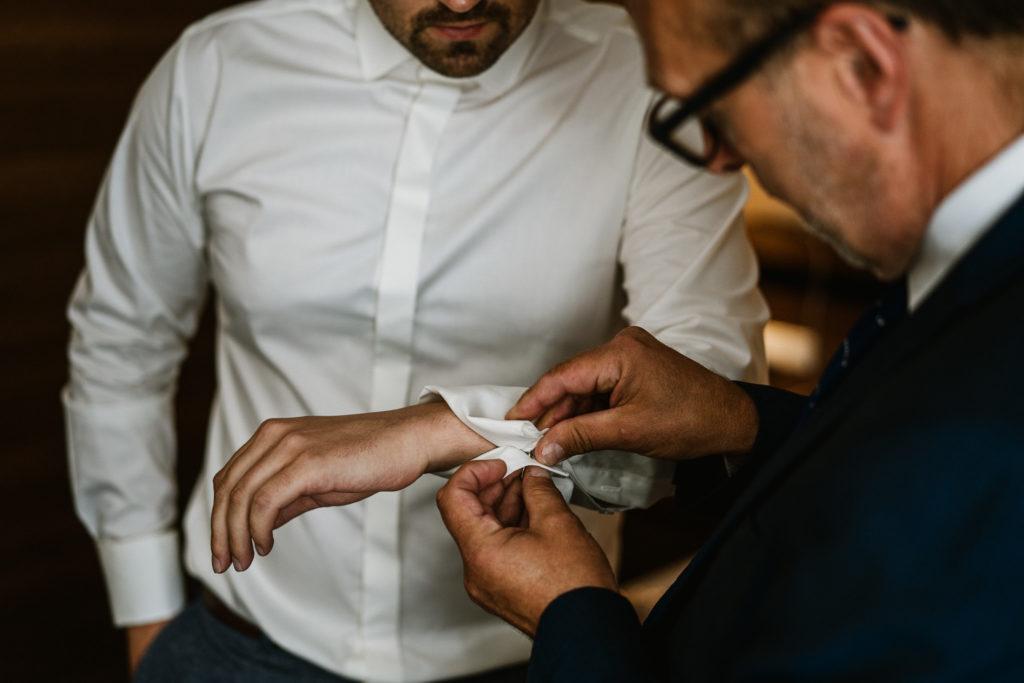 spinki do koszuli ślubnej