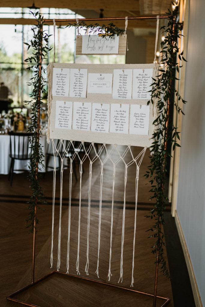 lista gości rado resort dekoracje makramy