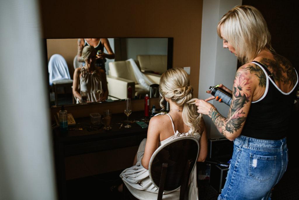 fryzura ślubna hotel rado resort