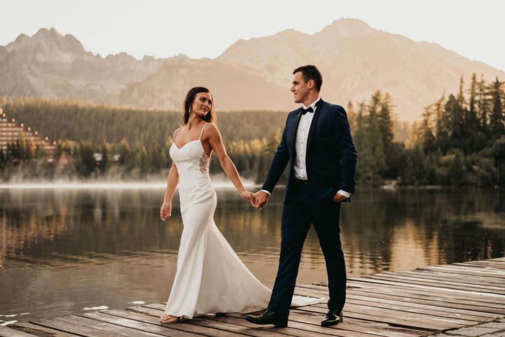 plener strbskie pleso pomost sesja poślubna